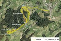 Schwellbrunn - Appenzellerland Mapa tras