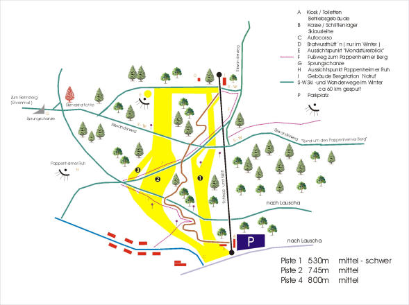 Ernstthal Trail Map