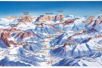 Passo Fedaia - Marmolada Mapa zjazdoviek