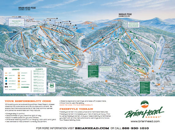 Brian Head Resort Mapa tras