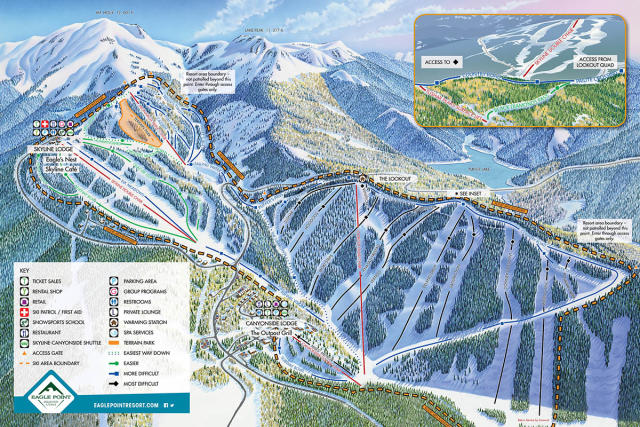 Eagle Point Plan des pistes