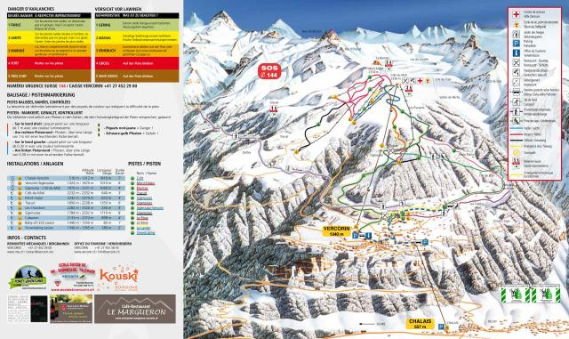 Vercorin Piste Map