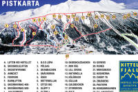 Kittelfjäll Piste Map