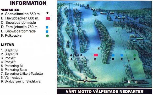 Åmåls Skicenter Trail Map