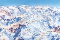 Comprensorio Ski Civetta Piste Map