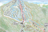 Burke Mountain Mapa tras