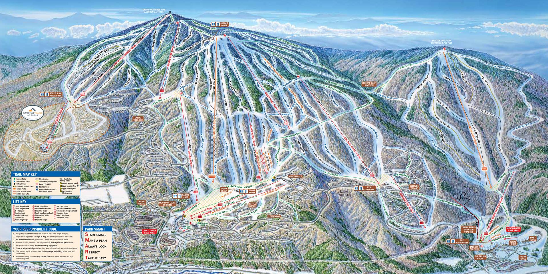Okemo Mountain Resort Trail Map