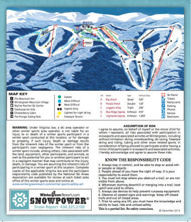 Wintergreen Resort Trail Map