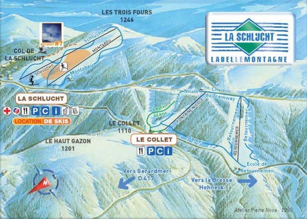La Schlucht Trail Map