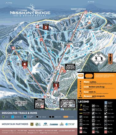 Mission Ridge Mapa tras
