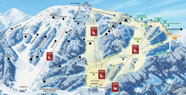 Mt. Spokane Ski and Snowboard Park Pistenplan