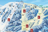 Mt. Spokane Ski and Snowboard Park Mappa piste