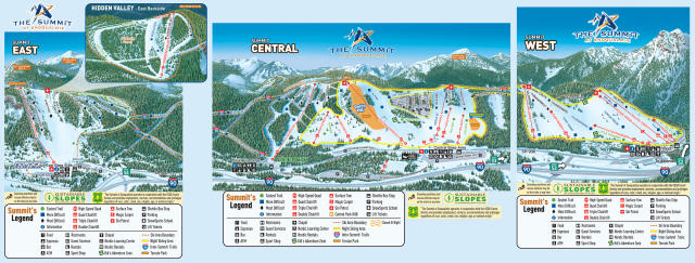 The Summit at Snoqualmie Piste Map