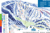 Canaan Valley Resort Plan des pistes