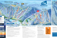 Snowshoe Mountain Resort Mapa zjazdoviek