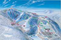 Winterplace Ski Resort Mapa tras
