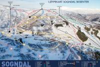 Sogndal - Hodlekve Mapa zjazdoviek