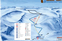 Stryn - Domaine de ski d'été Plan des pistes