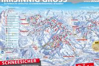 Kelchsau - SkiWelt Trail Map