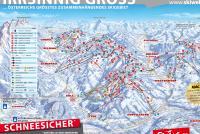 Scheffau - SkiWelt Piste Map
