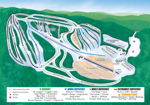 Christie Mountain Piste Map