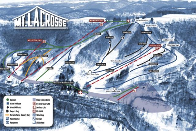 Mount La Crosse Piste Map