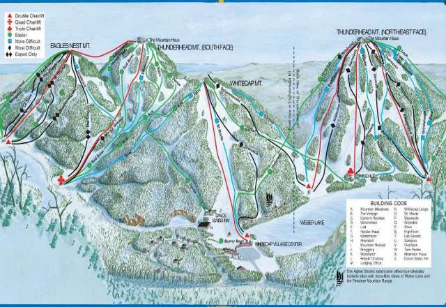 Whitecap Mountain Piste Map