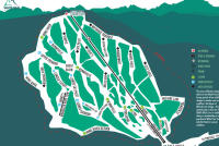 White Pine Ski Area Piste Map