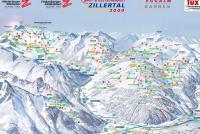 Glacier Zillertal 3000 - Tux - Finkenberg Piste Map