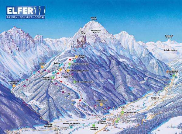Elferlifte Neustift Plan des pistes