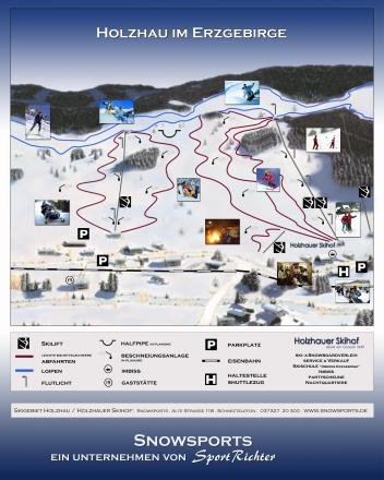 Skigebiet Holzhau Løypekart