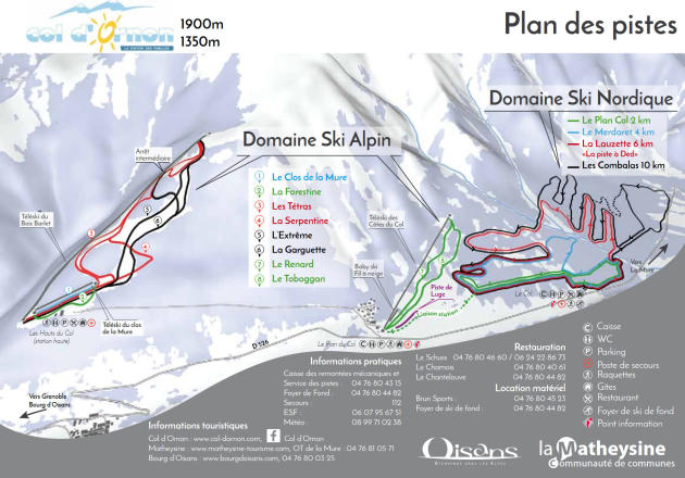 Col d'Ornon Trail Map