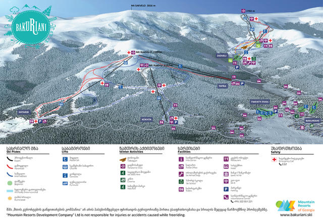Bakuriani Trail Map