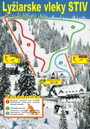 Čertovica / STIV Plan des pistes