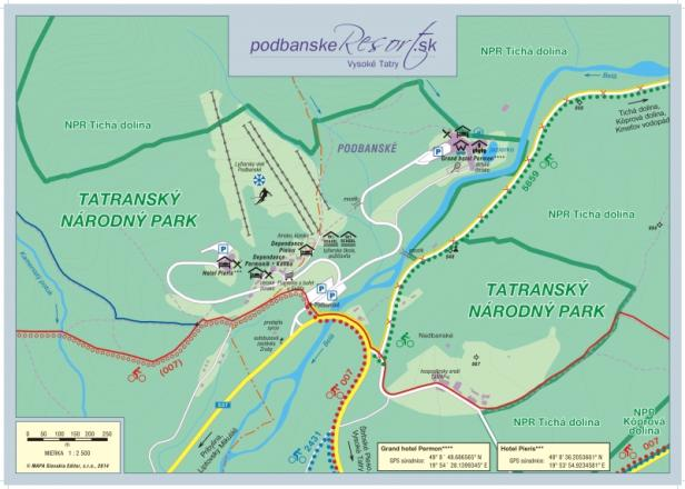 Podbanské Trail Map