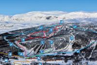 Skarslia Ski og Akesenter Løypekart