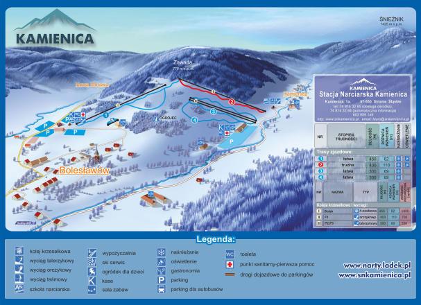 Kamienica Trail Map