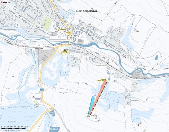 Luka nad Jihlavou Mappa piste
