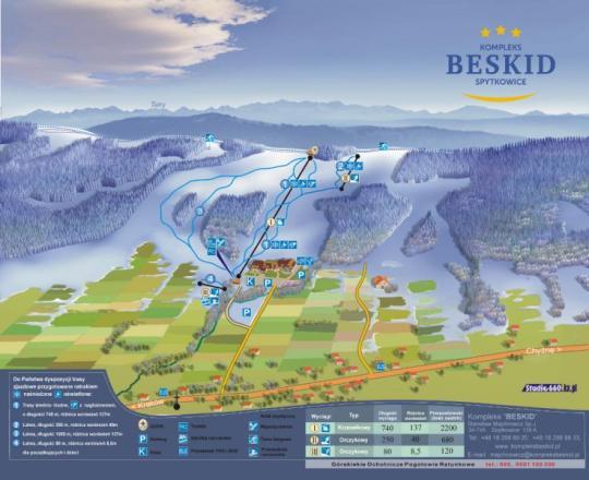 Spytkowice - Beskid  Trail Map