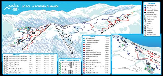 Maniva Ski Trail Map