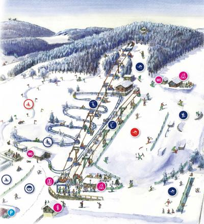 SkiArena Eibenstock  Trail Map