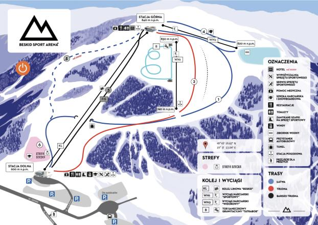 Beskid Sport Arena Trail Map