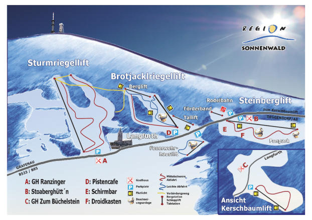 Langfurth - Sturmriegellift - Brotjacklriegellift Plan des pistes