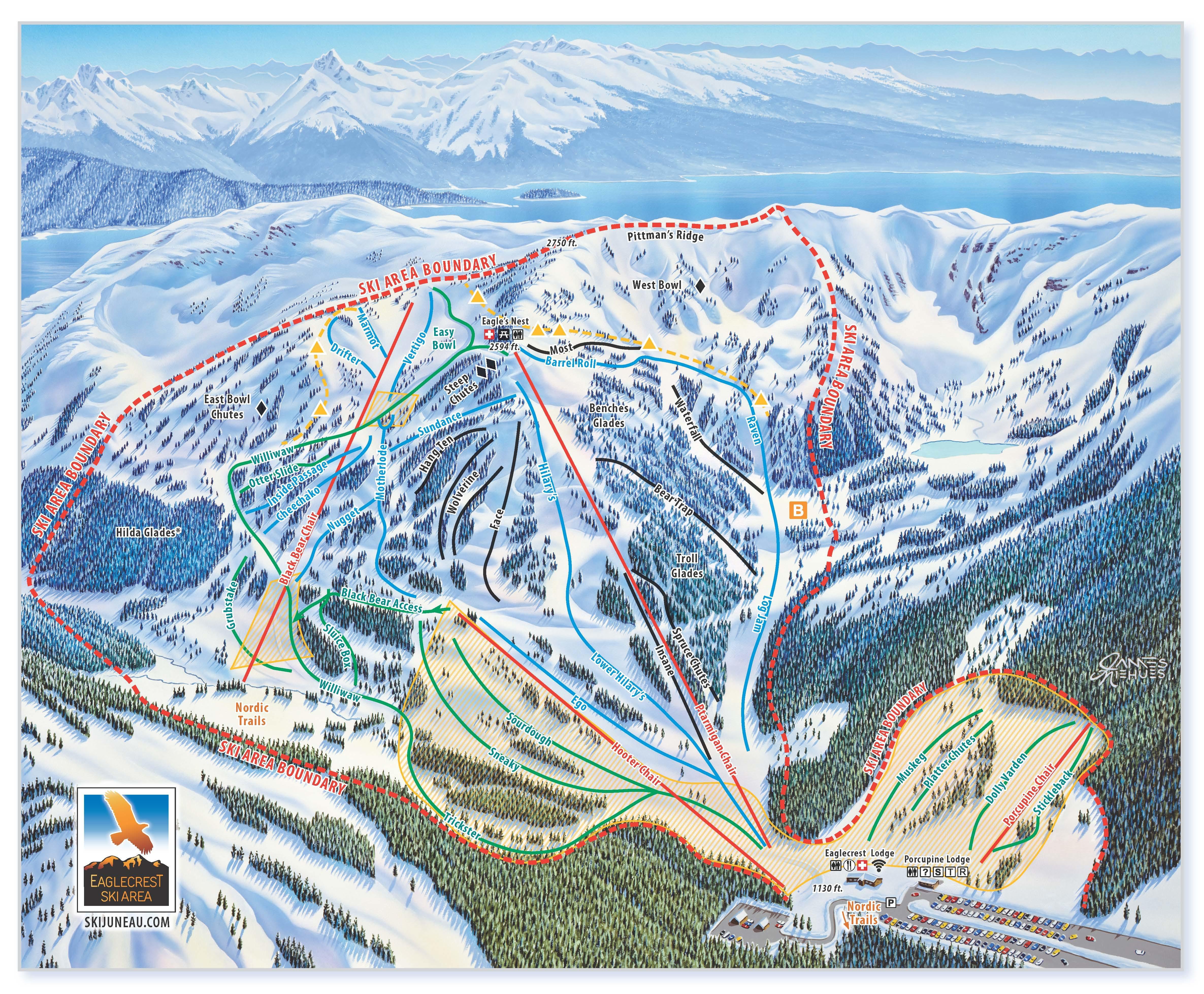Eaglecrest Ski Area Trail Map   OnTheSnow