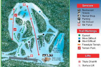 Hilltop Ski Area Trail Map
