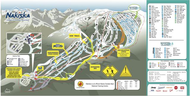 Nakiska Ski Area Trail Map