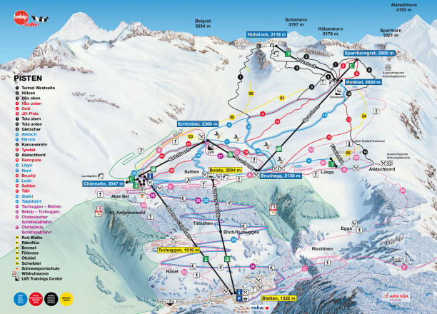 Belalp - Blatten - Naters Trail Map