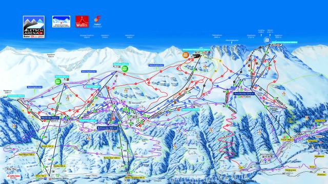 Aletsch Arena Trail Map
