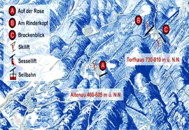Mapa sjezdovek