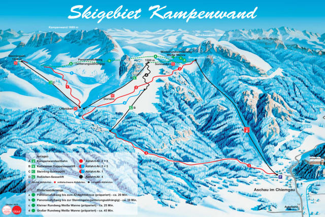 Kampenwand Trail Map